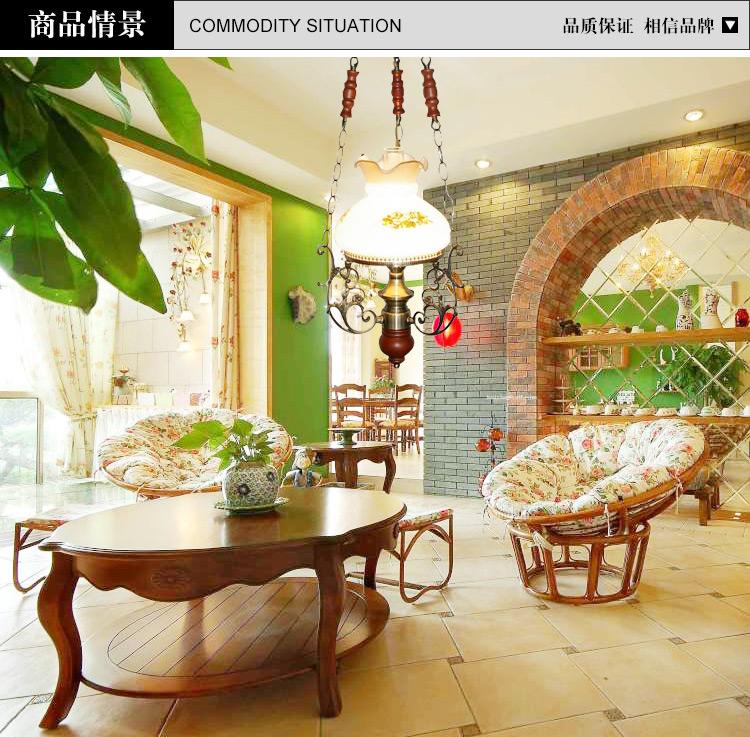 美式乡村吊灯欧式田园古典餐厅小客厅卧室灯饰5008