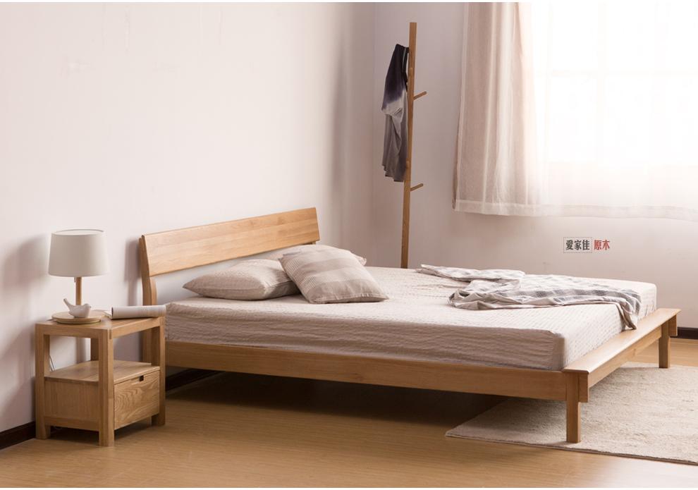 简约实木床橡木床单双人床三人床婚床大床
