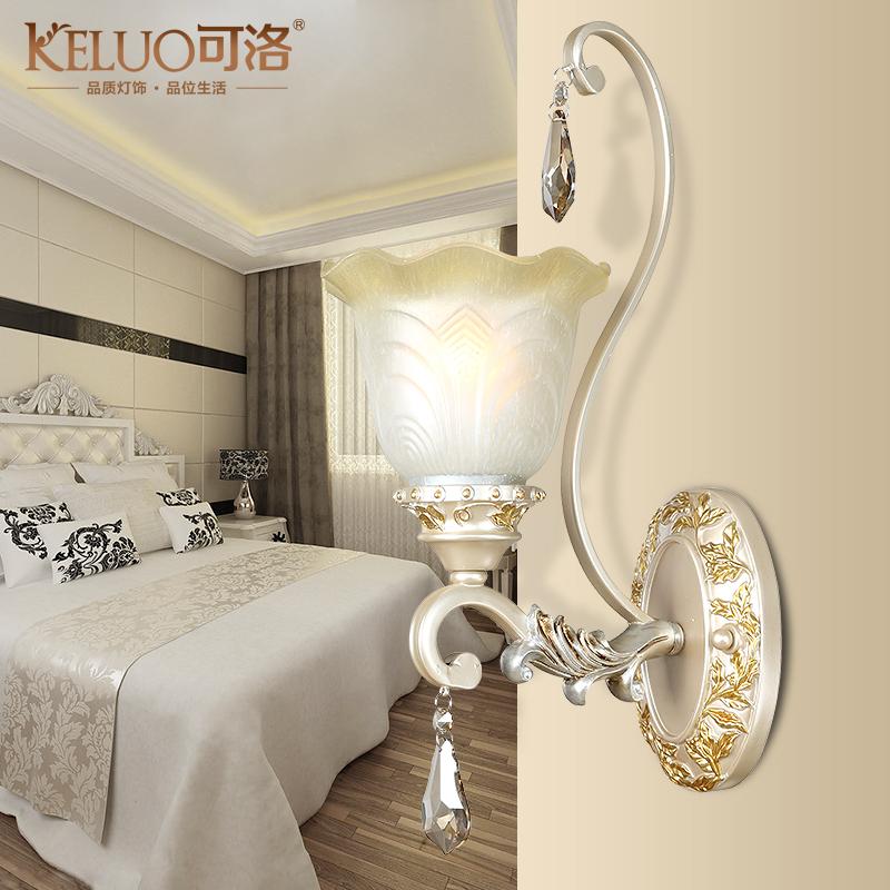 可洛 欧式壁灯 简约卧室创意床头灯 现代客厅阳台电视图片