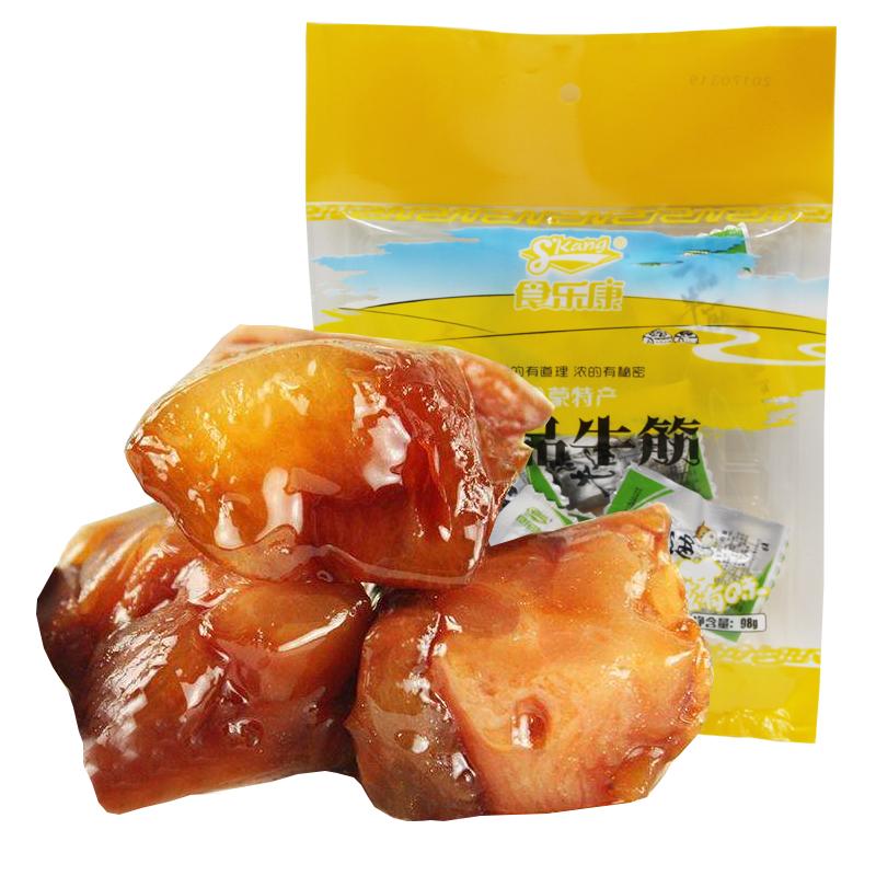 商品名称:食乐康牛蹄筋 内蒙古特产水晶牛筋零食卤制牛蹄筋独立包装98g*2包邮