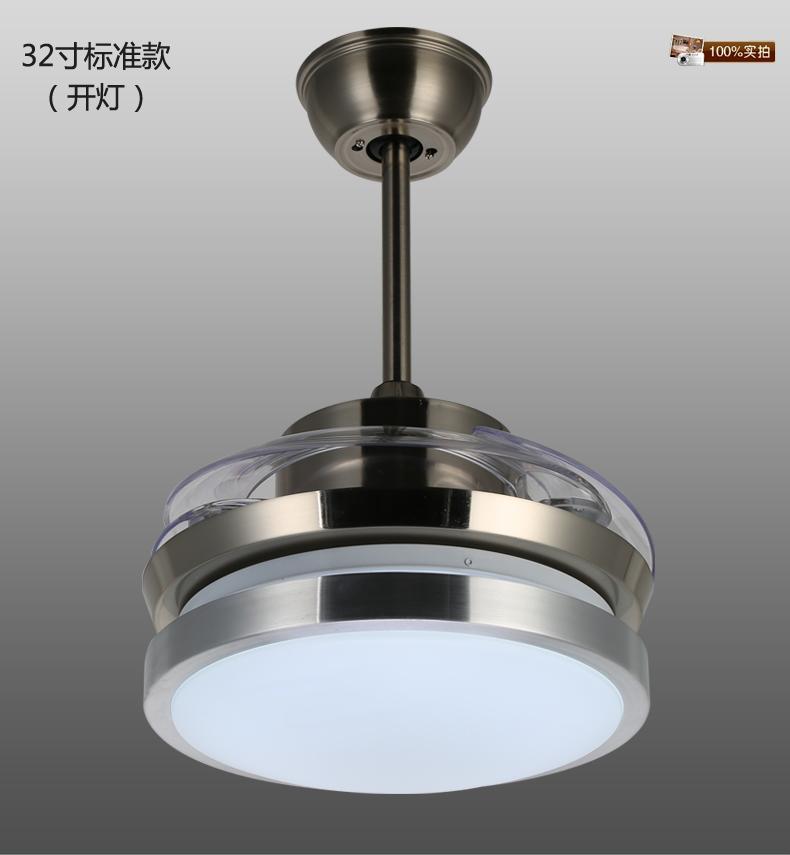 led风扇灯现代时尚隐形扇客厅餐厅吊扇灯带电风扇带灯