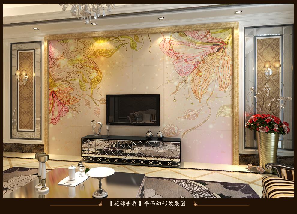 加利加电视背景墙瓷砖背景墙 中式客厅电视墙砖 陶瓷背景墙装饰 仿古