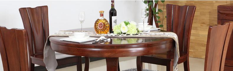 光明家具 全实木餐桌圆桌饭桌水曲柳实木餐厅桌1.