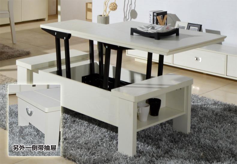 升降茶几变餐桌两用 折叠多功能创意家具小户型现代