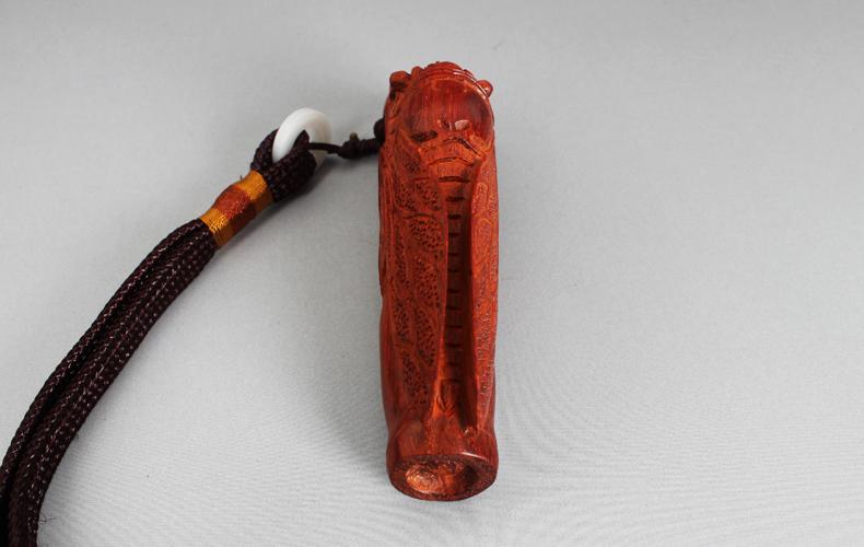 温龙 小叶紫檀知了节节高手把件 红木蝉文玩挂件高档工艺礼品