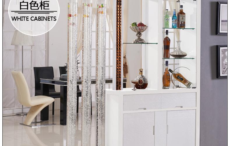 兴眭居现代客厅间厅柜玄关柜隔断带鱼缸水柱屏风简约双面门鞋柜装饰
