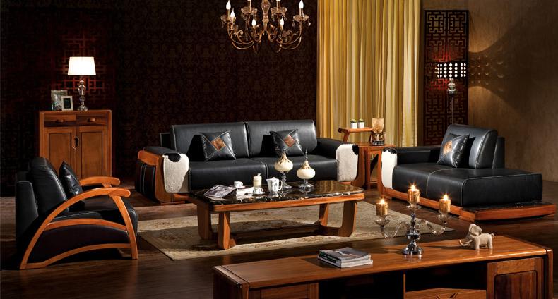 居克斯邦 金丝楠木家具 中式纯实木沙发组合 客厅实木