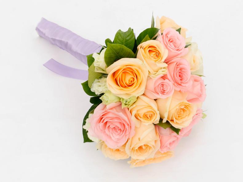 绿韵花田玫瑰鲜花新娘婚礼结婚手捧花真花韩式球形花束鲜花绿植速递