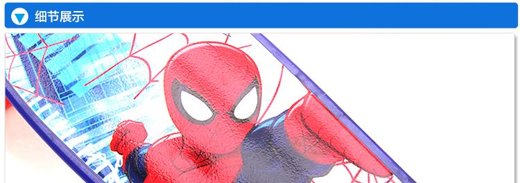 迪士尼(disney)儿童滑板 小鱼板香蕉板 蜘蛛侠芭比滑板车 红色米奇