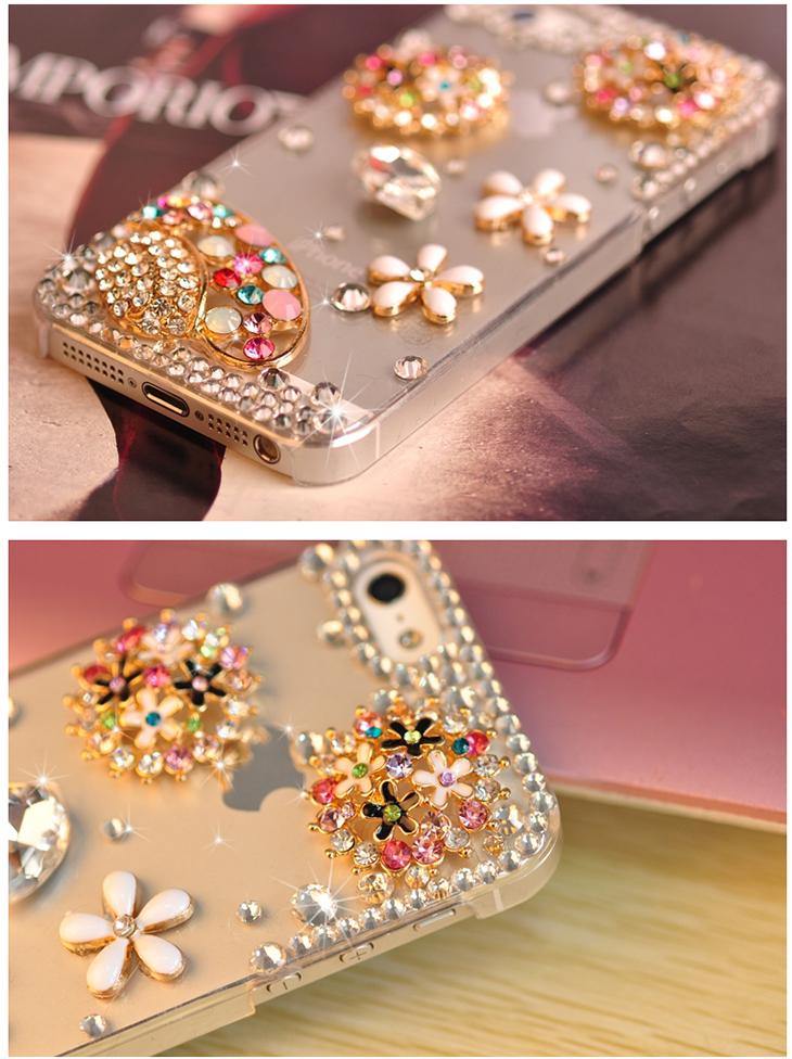 taoyee 手机壳 iphone5s镶钻水钻彩钻帽子潮外壳 iphone6保护套透明