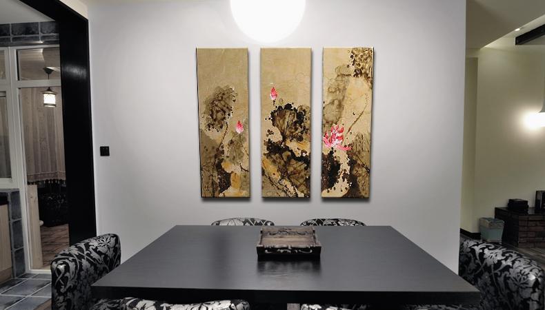新中式餐厅五张手绘套图