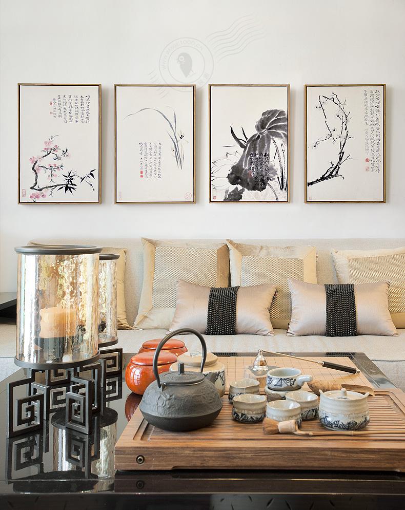 新中式沙发背景墙