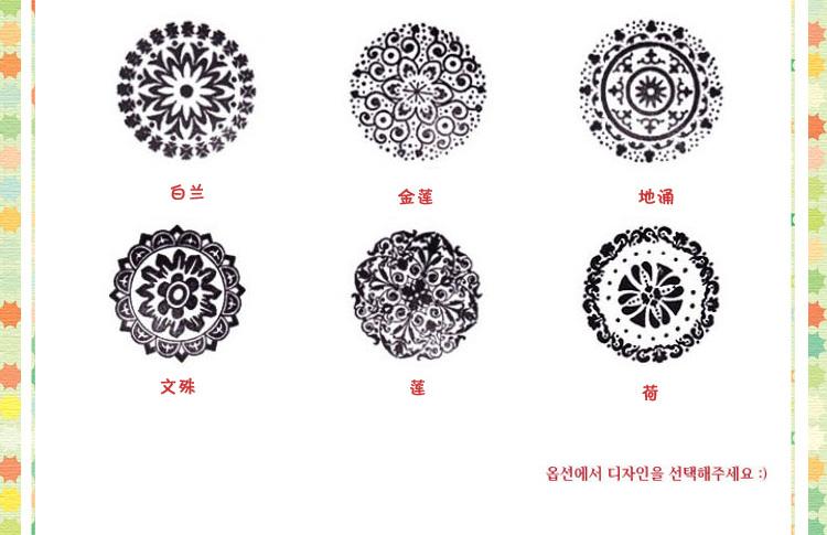 纸器时代 韩国圆形木质花形图案印章 复古可爱相册配件 满39包邮 木质
