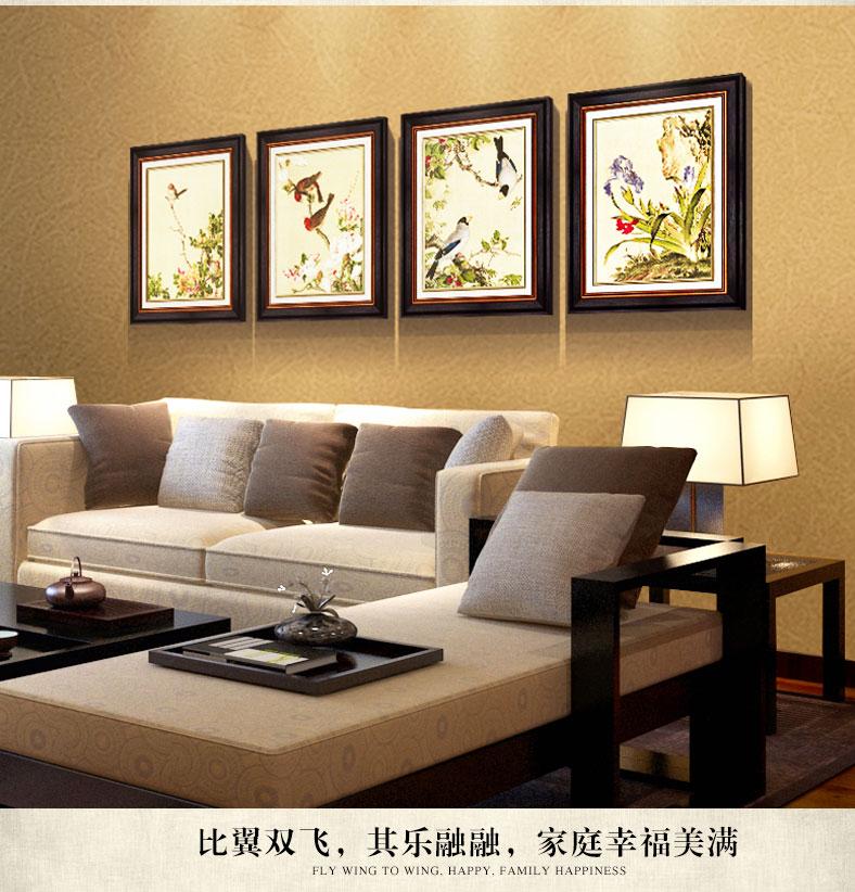 装饰字画 简一画廊(jane gallery) 简一画廊 新中式客厅装饰画沙发图片