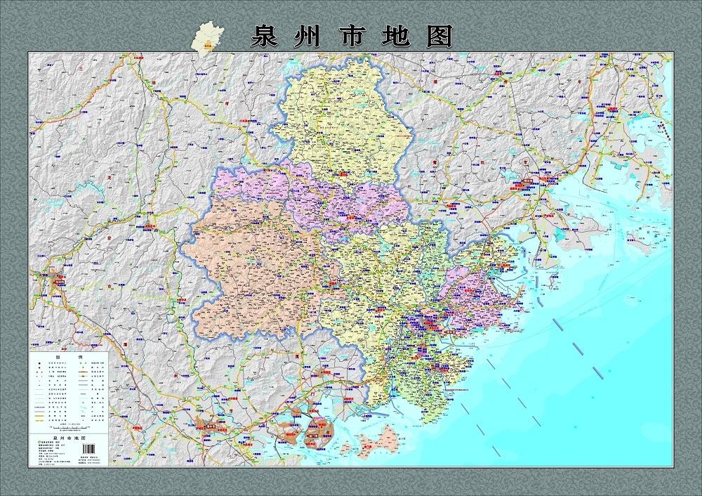 旅游/地图 中国地图 2015新版 泉州市地图挂图 石狮市 晋江市 南安市