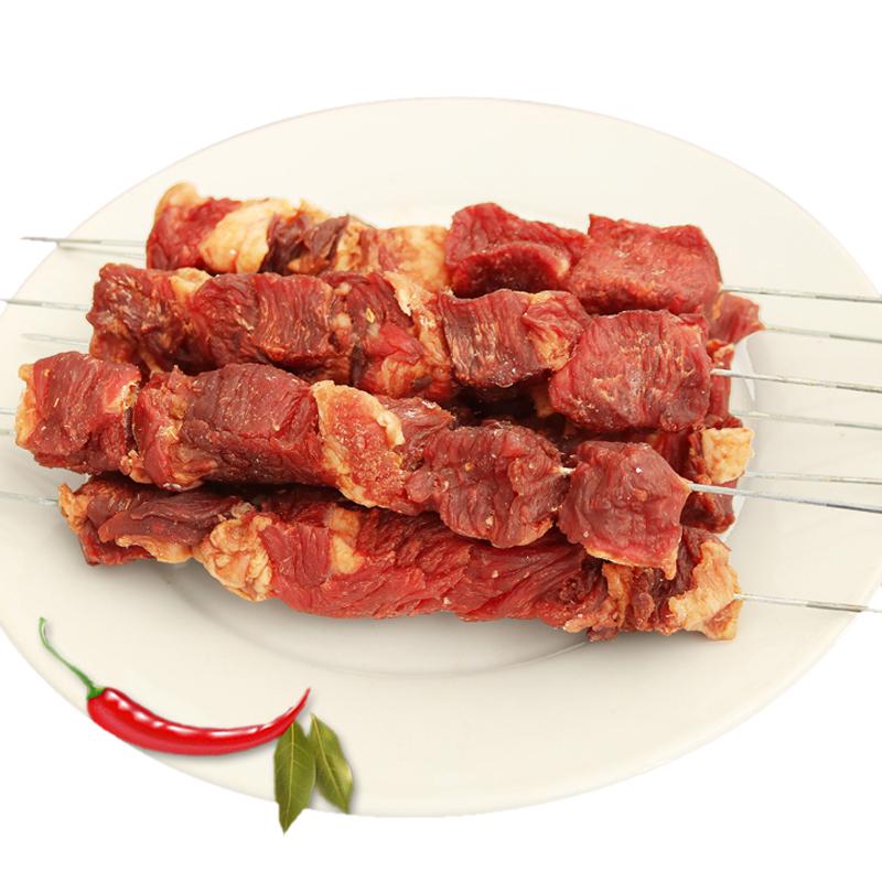商品名称:锡盟牧场  牛肉串烧烤食材已腌制半风干牛肉干大串超好吃 5串