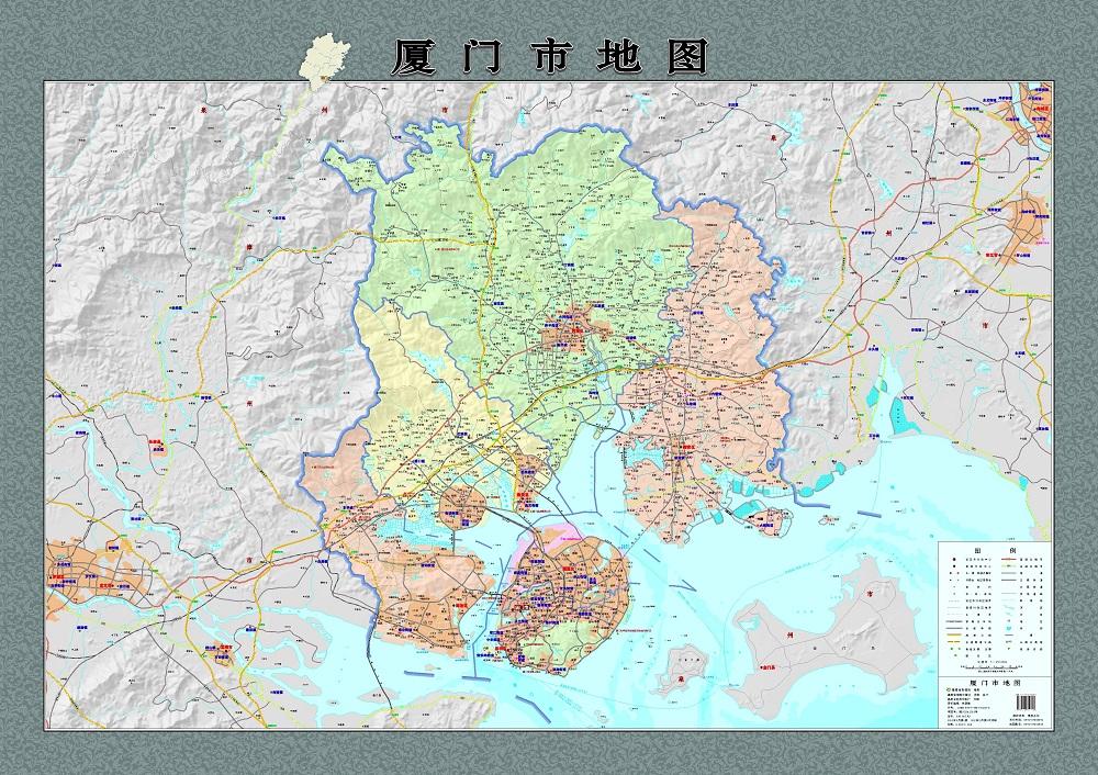 旅游/地图 中国地图 2015新版 厦门市地图挂图 思明区 湖里区 集美区