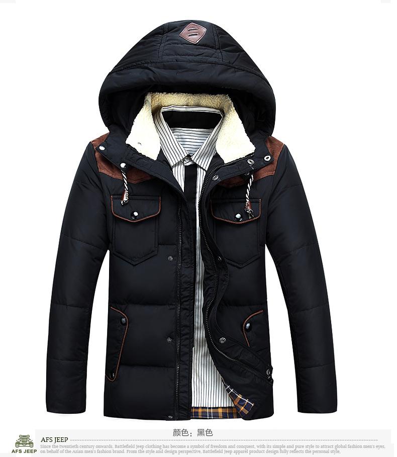 2014新款海澜之家男士gxg森马卡宾短款羽绒服以纯图片
