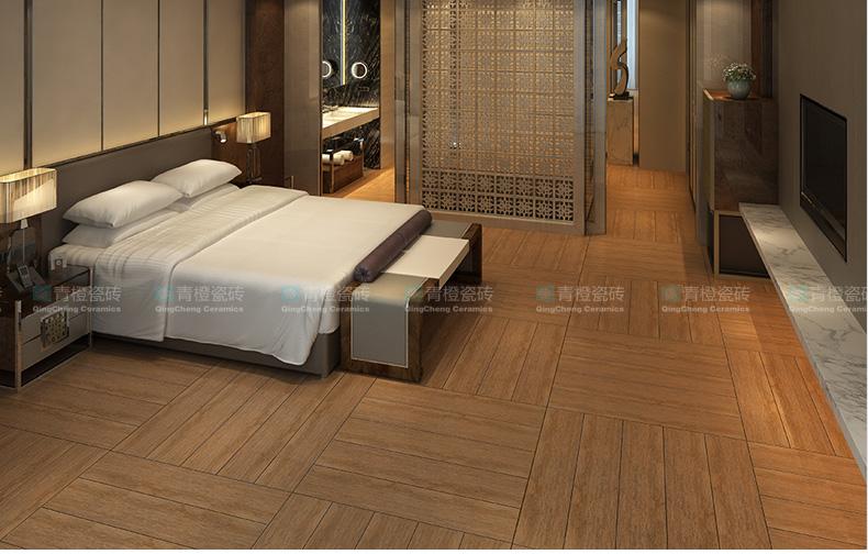 【青橙瓷砖】北美橡木 木纹砖200x1000仿实木 卧室 仿