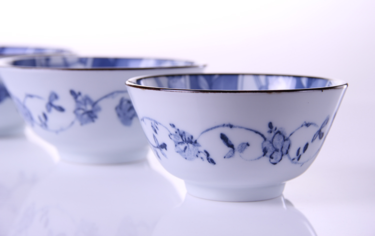 日本进口陶瓷有古窑樱花手绘陶瓷碗米饭碗汤碗沙拉碗日式拉面碗 大号