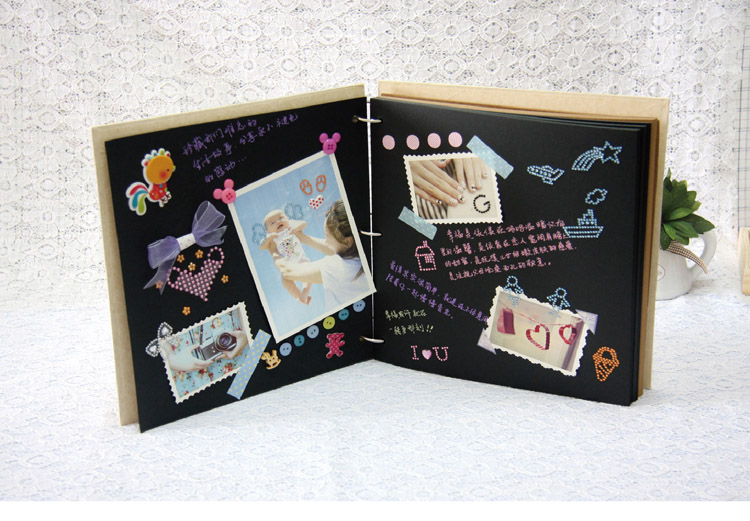 闺密diy相册黑卡手绘图