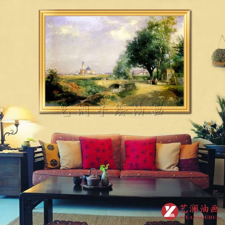 典风景纯手绘油画