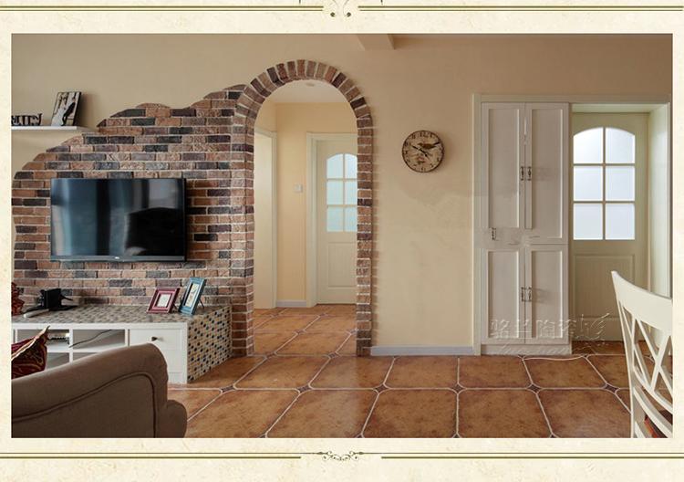 骆兰美式地中海仿古砖圆角地砖背景墙瓷砖 客厅卧室防滑地板砖500 lr图片