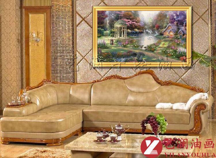 艺澜托马斯风景欧式古典花园景油画别墅酒店卧室客厅