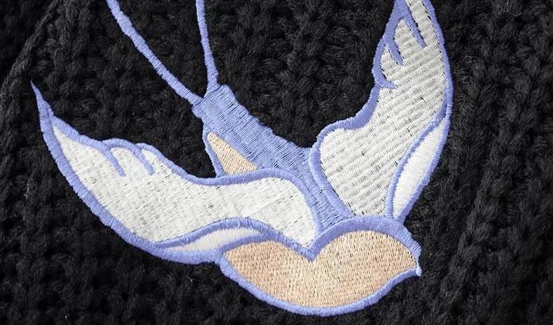 复古民族风刺绣鸽子图案设计,做工精美.