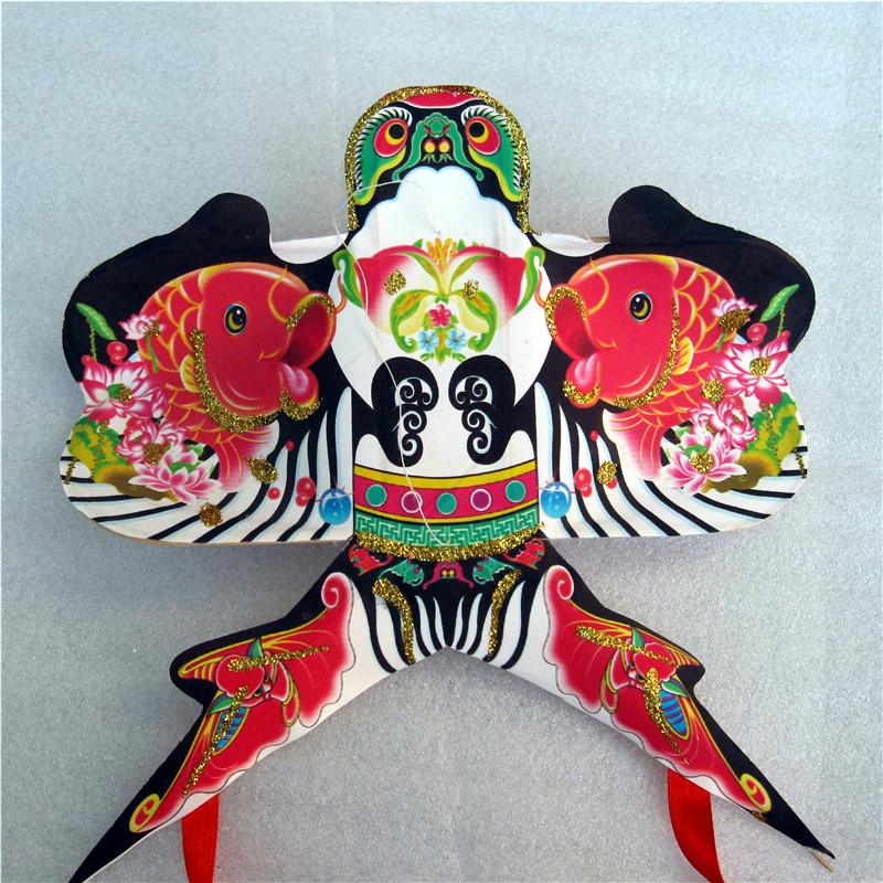 爱吃鱼风筝 传统手绘 礼盒风筝 民间工艺 手工轧制 外事礼品 沙燕