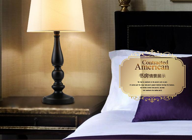 卧室床头台灯 简欧客厅书房台灯欧式创意台灯