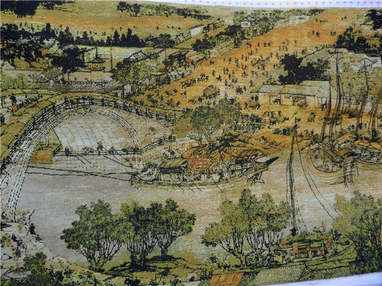 欣秀 纯手工十字绣成品清明上河图全景满绣2米3米6米新款客厅挂画