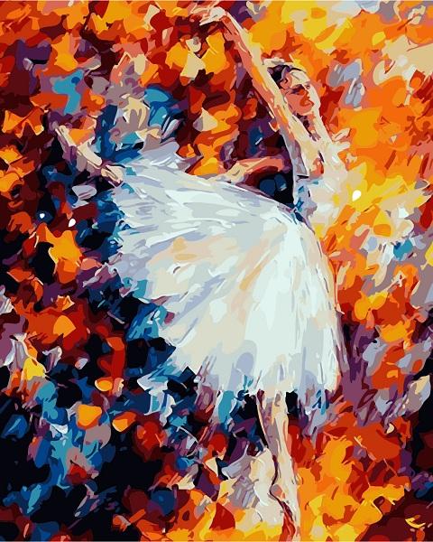 diy数字油画客厅风景人物自己填色画手工手绘画欧式芭蕾舞者女孩 6231