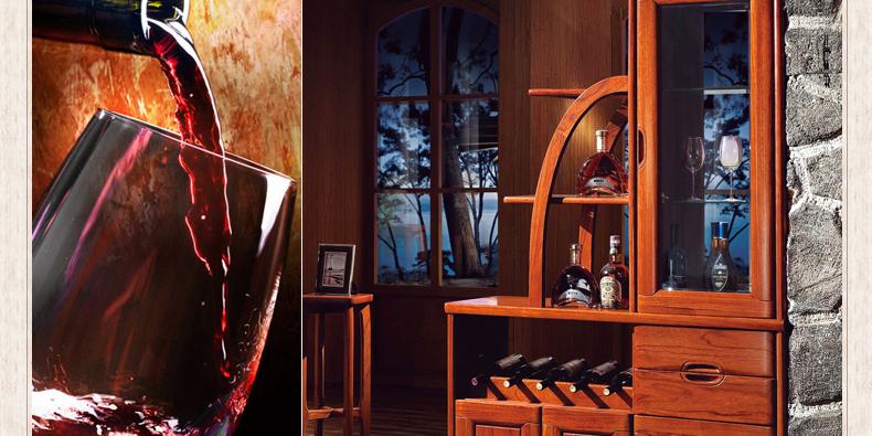 何家匠 红翅木实木门厅隔断玄关间厅隔厅柜 现代新中式双面 粟色 间厅