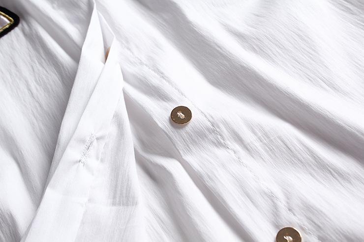 琴佩尔*欧洲站女装秋季新品卡通长袖绣花衬衫衬衣女式