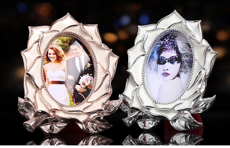 竹铭源 玛奇朵高级相框 异形相框摆台组合 结婚礼物创意礼品实用送女