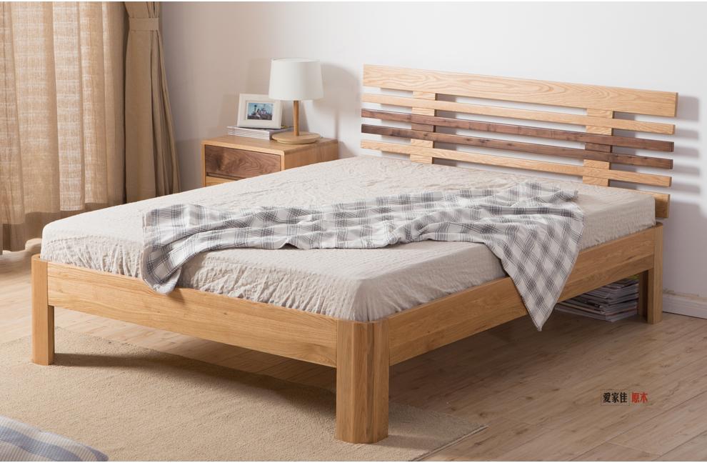 简约欧式全实木双人床三人床1.2米图片