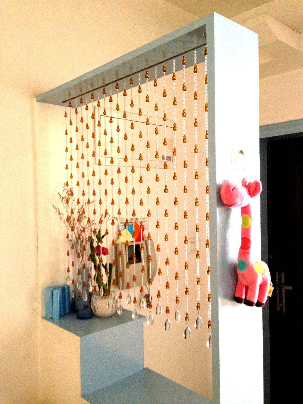 洛曼斯珠帘风水葫芦珠帘门帘水晶隔断帘成品客厅玄关玻璃挂帘装饰