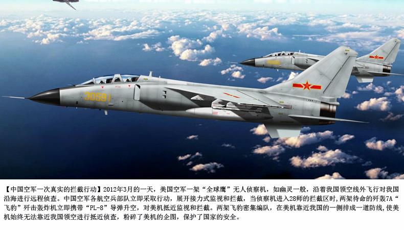 特尔博 1:48合金战斗机模型歼轰7 jh-7飞豹战斗轰炸机 飞机模型 摆件