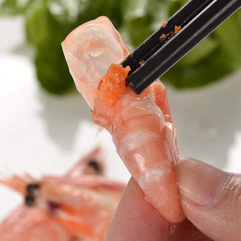 【蓝雪】北极甜虾500g 带籽海虾 刺身 宝宝补钙 熟冻虾