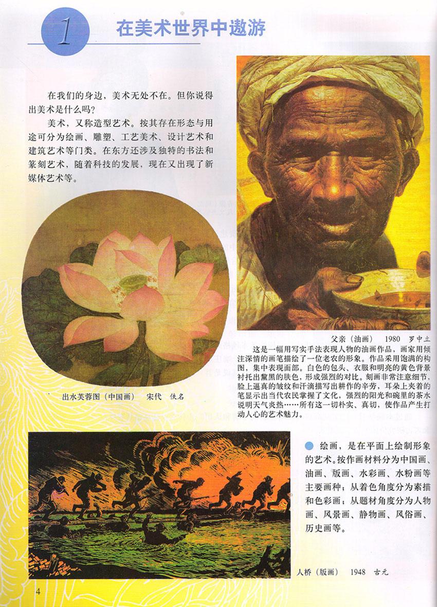 人美版初中美术七年级上册美术书 人民美术出版社 义务教育教科书教材图片