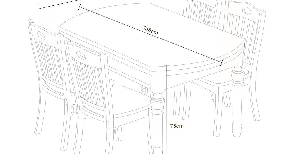 餐桌一点透视手绘效果图