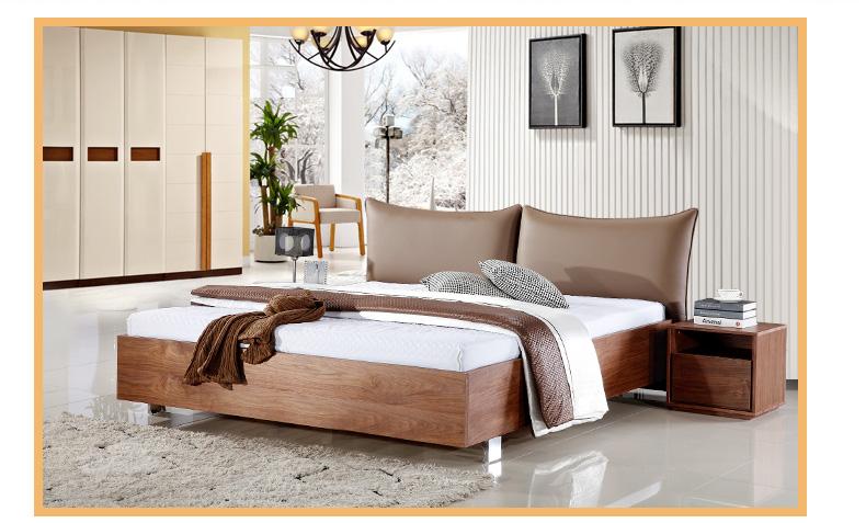 伊恒床实木床双人床简约现代
