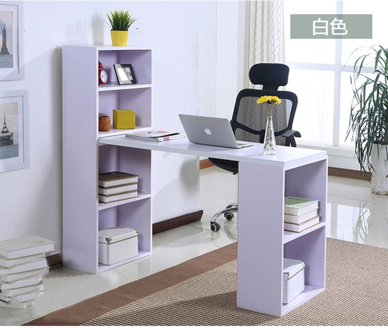 简易书桌 创意组合转角书橱电脑桌