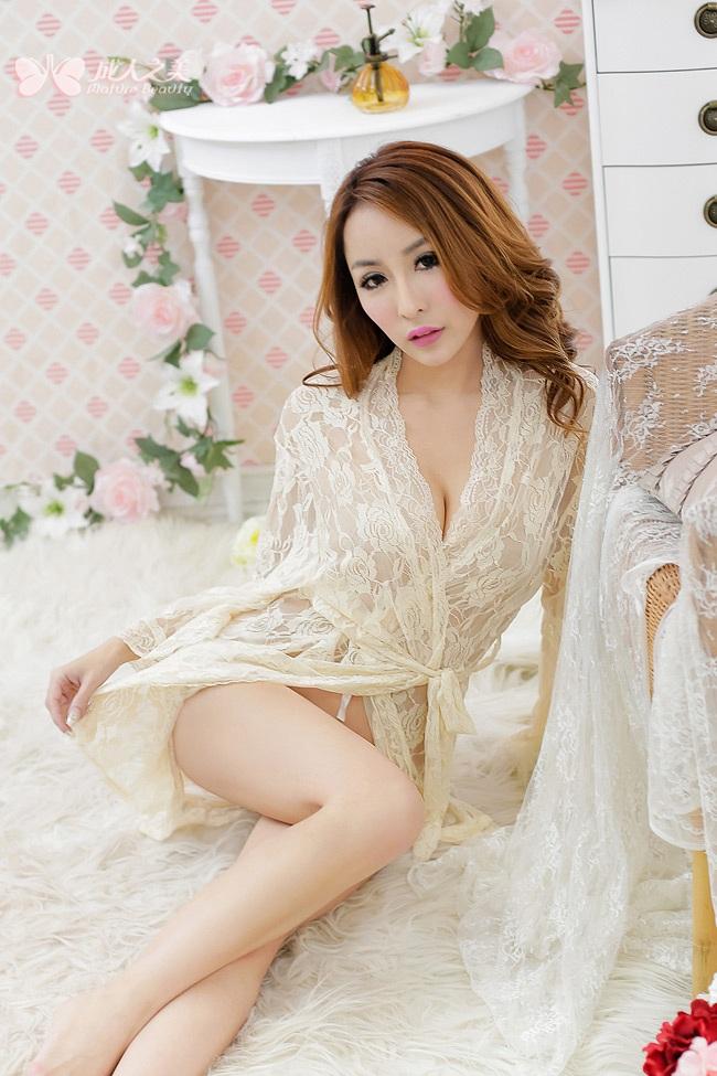 成人之美女式性感睡衣长裙透明诱惑豹纹情趣内衣套装