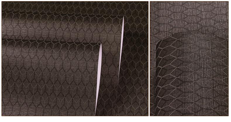 九龙壁纸现代简约菱形墙纸高档无纺布微立体花纹客厅卧室满贴壁纸 9w0