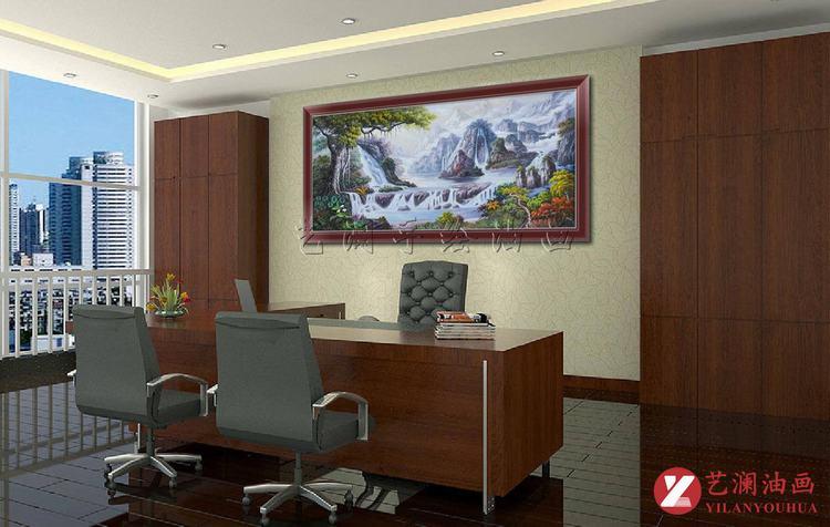 艺澜自然山水风景横式构图纯手工油画 客厅沙发墙壁挂图片