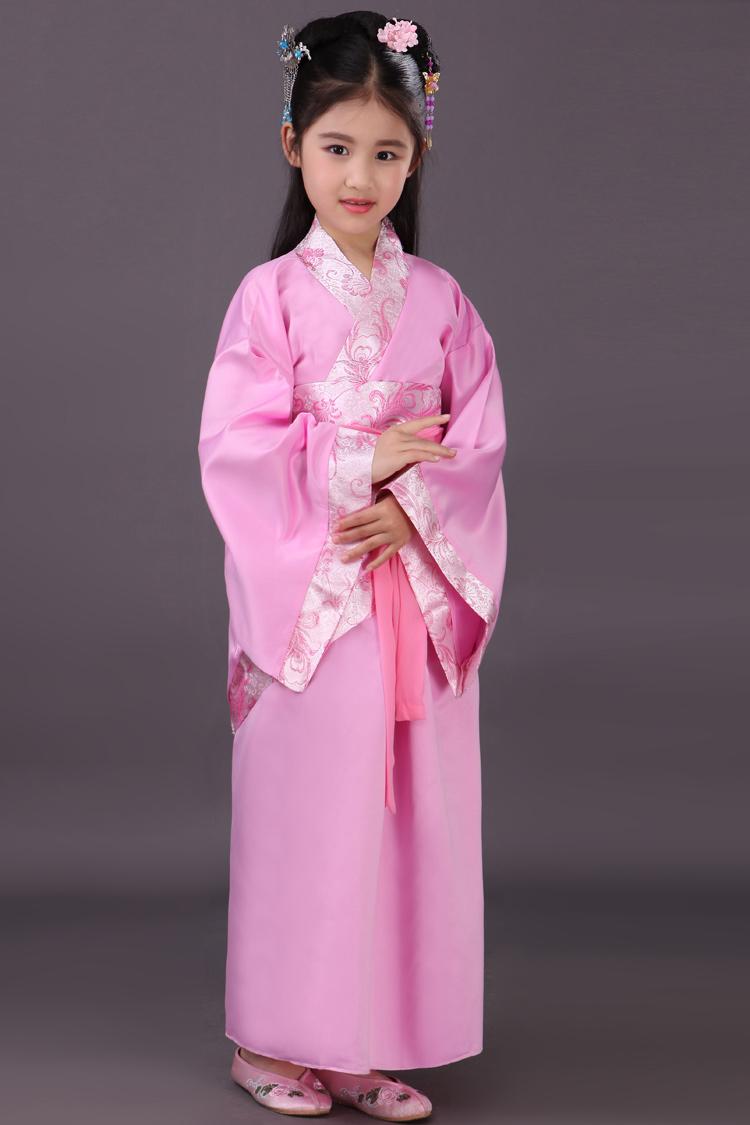 童_六一古装儿童汉服幼儿国学男女童舞蹈服小学生表演服装古代演出服 带