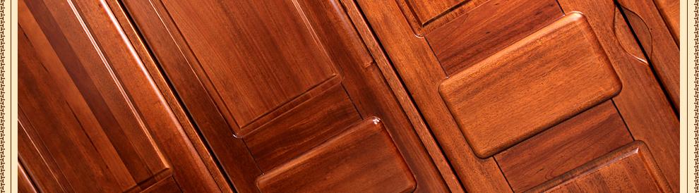 缔卓家具 全实木衣柜 现代中式卧室四 五门衣柜 花梨木色大衣橱 右二