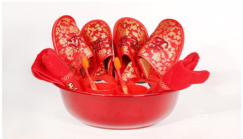 新娘结婚红拖鞋婚庆